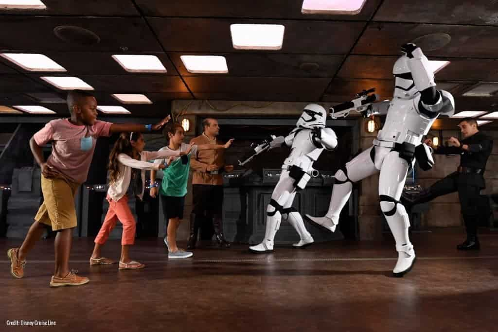 The Disney Fantasy offers Star Wards every day for DIsney Cruise Line passengers in thier kids's club.
