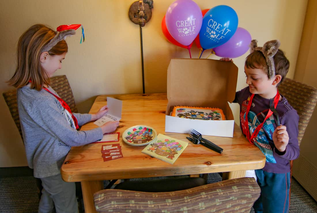 Great Wolf Lodge Birthday party Package
