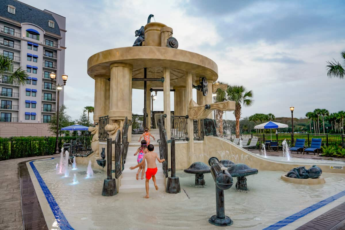 S'il Vous Play is the splash pool at the Disney Riviera Resort